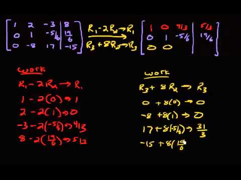 System of Equations - Row Reducing Example 3 (Part 2)