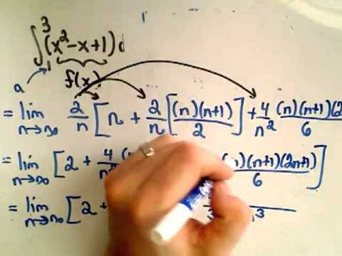 Saylor MA101: Calculating a Definite Integral Using Riemann Sums Part 2