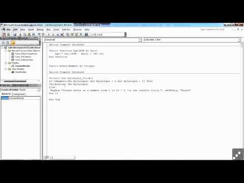 VBA for Access Tutorial | What is VBA | InfiniteSkills