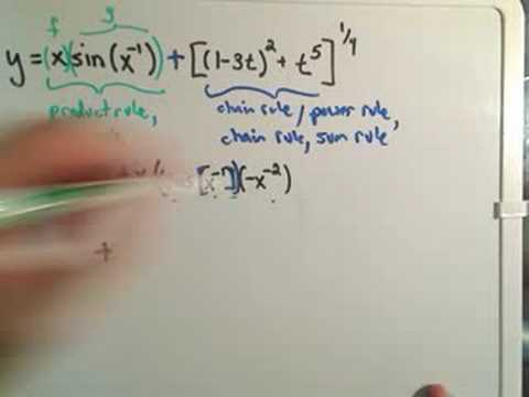 Using the Chain Rule - Harder Example #3