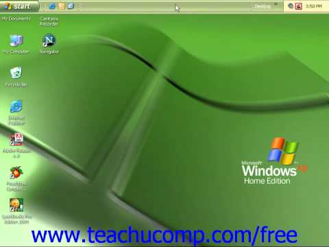 Windows XP Tutorial Moving and Resizing the Windows Taskbar Microsoft Training Lesson 3.1