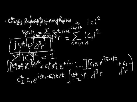 Quantum Mechanics 024 : states of uncertain energy (part 2 : energy probability amplitudes)