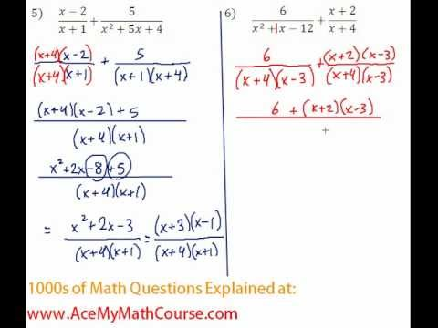 Rationals - Adding Rational Expressions Question #6