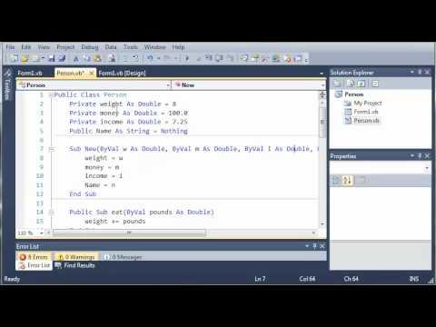 Visual Basic Tutorial - 97 - Constructors
