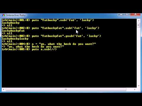 Ruby Programming Tutorial - 23 - Beginning Regular Expressions