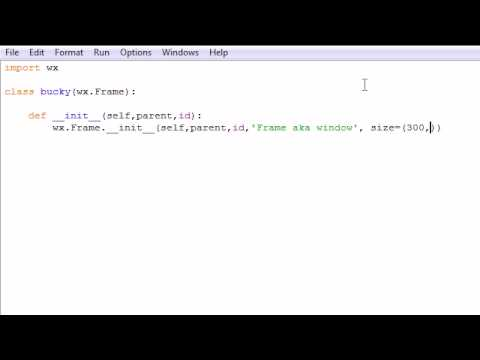wxPython Programming Tutorial - 1 - Creating a Basic Frame