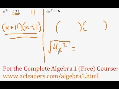 Polynomials - Difference of Two Squares Question #4