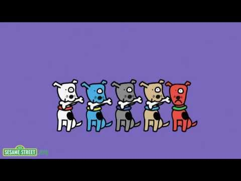Sesame Street: 5 Dogs, 5 Bones
