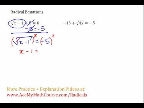 Radical Equations #3