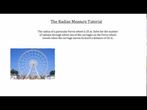 Trigonometry- The Radian Measure