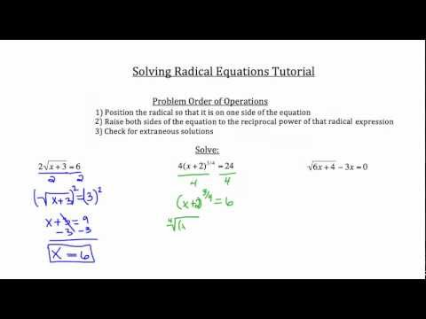 Solve Radical Equations-Textbook Tactics