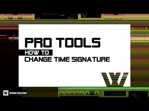 Pro Tools: How To Change Time Signature   WinkSound