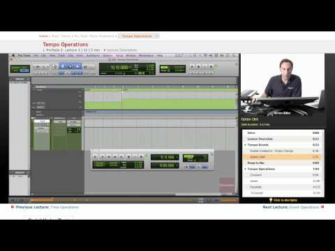 Pro Tools: Tempo Operations