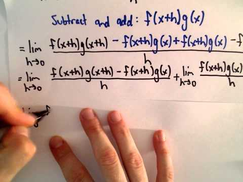 Proof of the Product Rule from Calculus
