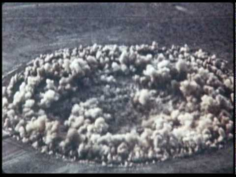 Nuclear Bomb Test Subsidence Crater Formation