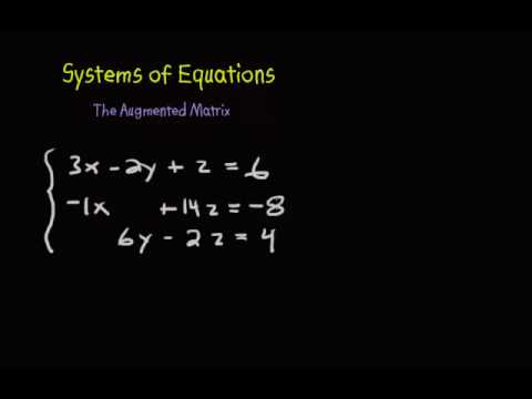 System of Equations - Setting up the Augmented Matrix