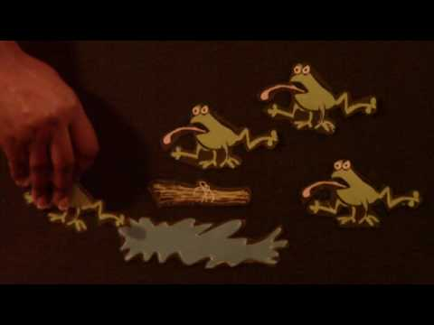 preschool activity - 5 Green and Speckled Frogs - Littlestorybug