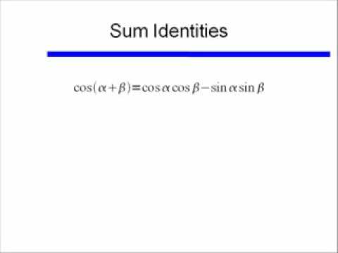 Video 37  Intro to Sum and Difference Identities