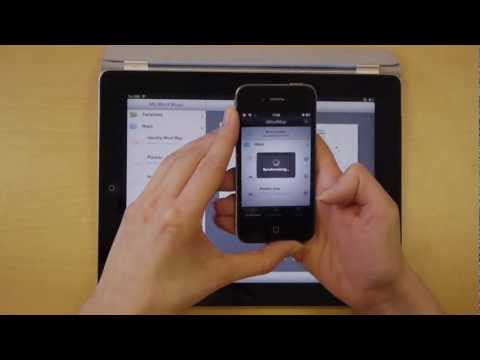 Syncing Maps - iMindMap HD for iPad Quick Tips