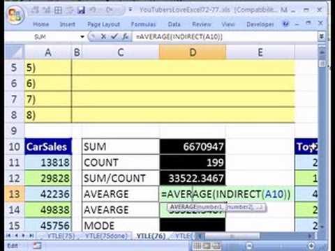 YTLE#76: Data Analysis & INDIRECT function