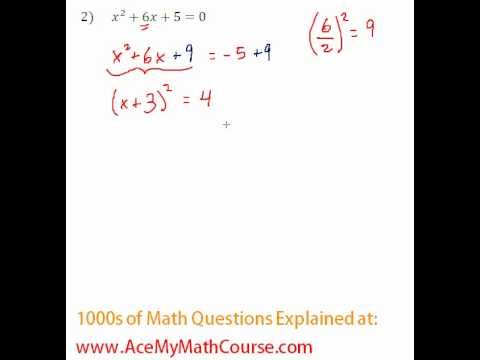 Solving by Completing the Square #2