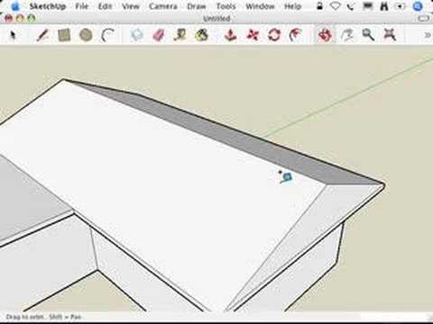 SketchUp: Making hip roofs