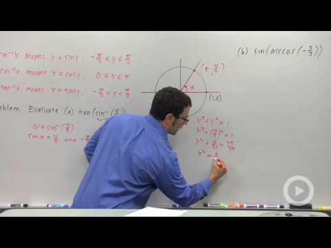 Precalculus - Using the Inverse Trigonometric Functions