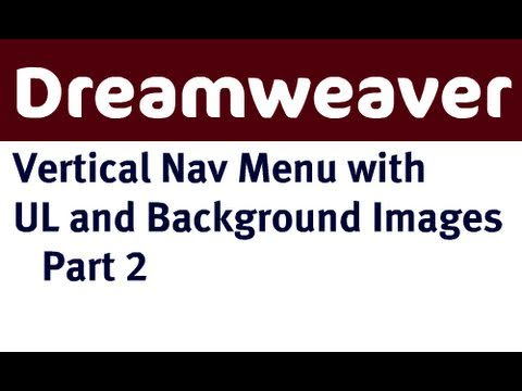 Vertical Navigation Menu in Dreamweaver Part 2