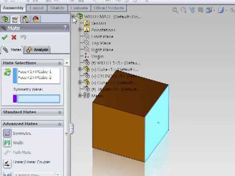Solidworks 2011 Tutorial - Advanced Mates