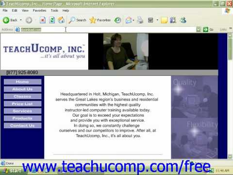 Windows XP Tutorial Downloading Items from the Internet Microsoft Training Lesson 7.4