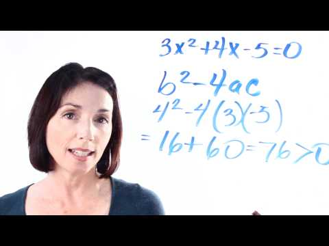 The Quadratic Formula: How to Use the Discriminant to Determine Roots
