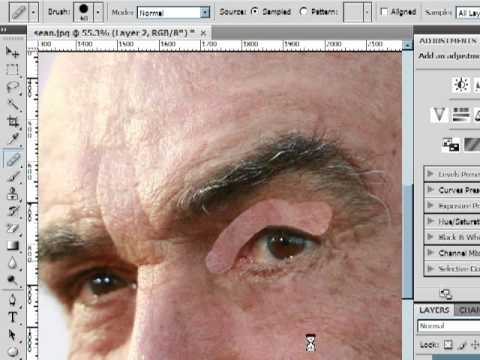 Tone Down Wrinkles Healing Tool Photoshop cs4 Lesson 15