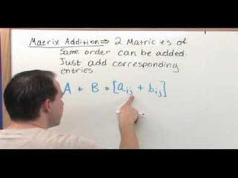 The Matrix Algebra Tutor - Sample 2 - Adding Matrices