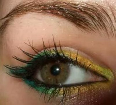 pro palette GLOSSY futuristic eye liner make up tutorial