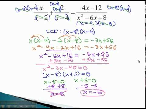 Rational Equations - Extraneous Solutions