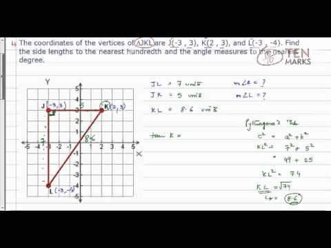Solving a Right Triangle in the Coordinate Plane
