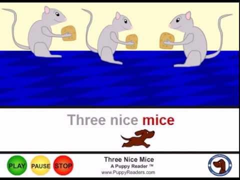 Three Nice Mice:  Nursery Rhyme Animation for Children