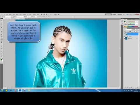Photoshop CS5 - Creating Simple Backgrounds For Your Subjects - Tutorial