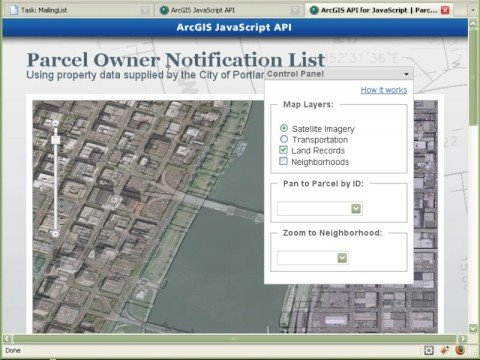 Web Application: Land parcel Notification