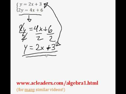 System of Equations - NUMBER OF SOLUTIONS. EASY!!!! (pt. 2)