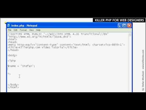 PHP Basics - Variables Part 1