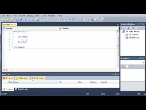 Visual Basic Tutorial - 4 - Hello World