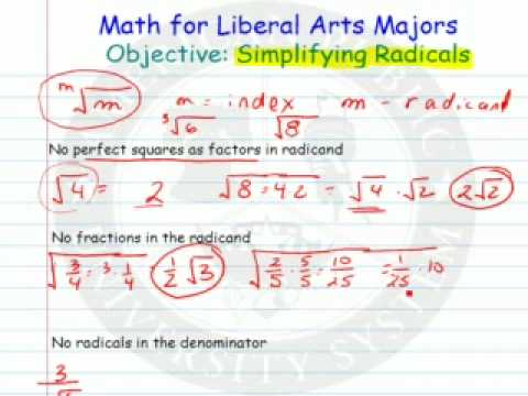 Radicals and Simplifying Radicals