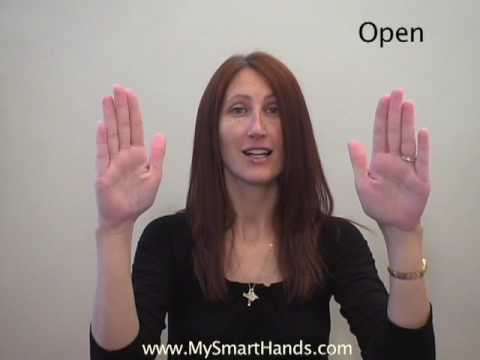 open - ASL sign for open