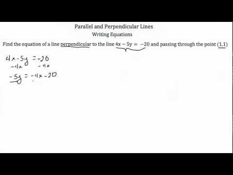 Parallel and Perpendicular Lines Part 2-Textbook Tactics