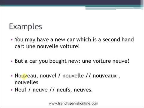 New in French: Nouveau vs Neuf