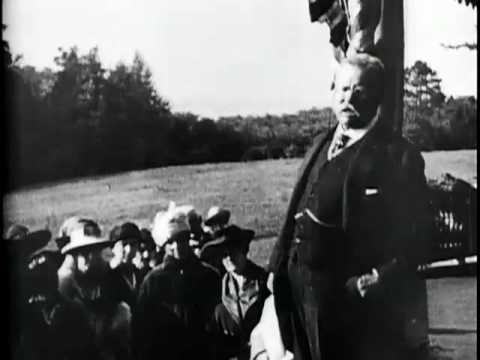 Theodore Roosevelt Speaking at Sagamore Hill [1916-1918]