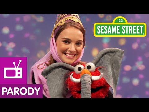 Sesame Street: Natalie Portman And Elmo Are Princess & Eleph