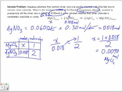 Stoichiometry in Aqueous Solutions Part 3