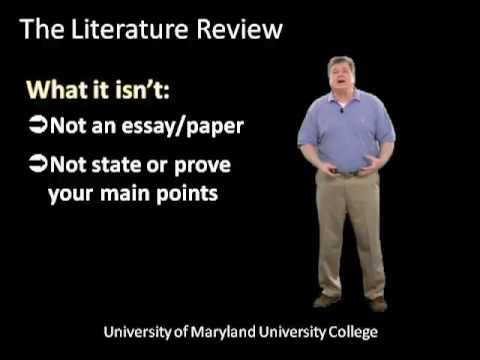 Writing the Literature Review: Step-by-Step Tutorial for Graduate Students